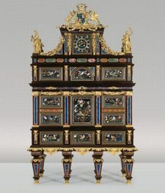 One of the most expensive antique pieces ever sold. Antique badminton cabinet...36.7 million
