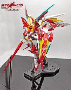 MG 1/100 XXXG-01W Wing Gundam 'RED WINGS' - Customized Build     Modeled by 那一年这一载
