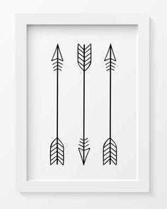 Arrows Print, Tribal Arrow Art, Whimsical Art Prints, Tribal Nursery Decor, Minimalist art print, Black Arrows print, Printable Home Decor