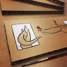 1/50... Primera postalita de la serie limitada en camino a destino + otros encarguitos :) #DIY #sanvalentin #postales