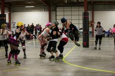 Hair whip, roller derby....ouch