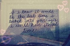 I would have stopped time for more time with you <3