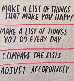 Make a list of thing