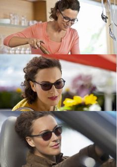 Self-tinting lenses will help your eyes adjust to different brightness levels and allow for you to feel more relaxed and comfortable in any situation. These glasses transform to sunglasses when you walk outside.