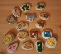 Pietre di storia care Zoo di ThroughPlayWeLearn su Etsy