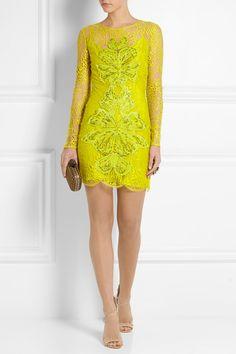 Matthew Williamson cotton-blend lace dress