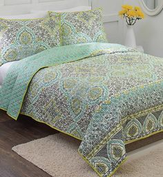 Aqua Arabesque Quilt From Better Homes And Gardens At Walmart #sweepstakes