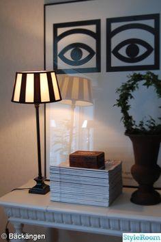 lampskärm,svart vit,kakaotavla