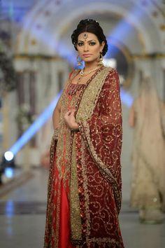 Aisha Imran - Pakistani Bridal Fashion at Pantene Bridal Couture Week 2013 PBCW Lahore