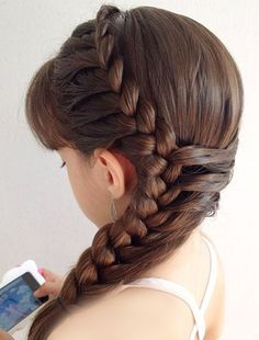 50 Affordable Braided Hairstyle Ideas For Girls # Braids for girls dr. who 50 Affordable Braided Hairstyle Ideas For Girls # Braids for girls dr. Side Braid Hairstyles, Little Girl Hairstyles, Pretty Hairstyles, Wedding Hairstyles, Hairstyle Ideas, Amazing Hairstyles, Kids Hairstyle, Stylish Hairstyles, Braided Hairstyles For Kids