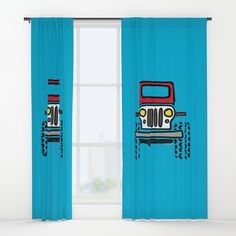 "Your drapes don't have to be so drab. Our awesome Window Curtains transform a neglected essential into an awesome statement piece. Featuring a single-sided print with a reverse white side.     - Dimensions: 50"" (W) x 84"" (H)   - Available in single or double panel options   - Crafted with 100% lightweight polyester, blocks out some light   - 4"" hanging pocket for easy hanging on any rod   - Single side print on front with reverse white side   - Machine wash cold, tumble dry low Red Curtains, Window Curtains, Jeep Drawing, Windows, Cold, Pocket, Awesome, Easy, Ramen"