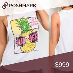 NewSummer Pineapple Tank Summer Pineapple Tank.  No Trades. Price is firm unless bundled: 10% off 2 or more items. JG Boutique Tops Tank Tops