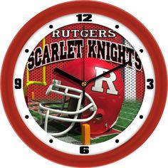 Mens Rutgers Scarlet Knights - Football Helmet Wall Clock