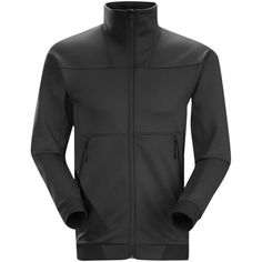 Arc'teryx Men's Straibo Solid Jacket - Size xxl ($109) ❤ liked on Polyvore featuring men's fashion, men's clothing, men's outerwear, men's jackets, no color, men's stand collar jacket, mens zipper jacket, mens jackets and mens zip jacket