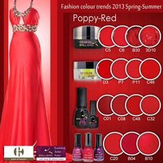 Poppy-Red Nail Shop, Fashion Colours, Red Poppies, Beauty Nails, Color Trends, Gel Polish, Swatch, Spring Summer, Poppy Red