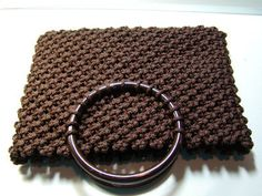 """Just finished this BROWN MACRAME PURSE and thought I would share the design with you. It is my own creation. One of those ideas floating around in my head for years. A """"what if"""" I did t…"""
