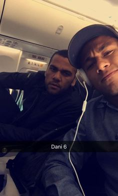 Neymar with Dani Alves