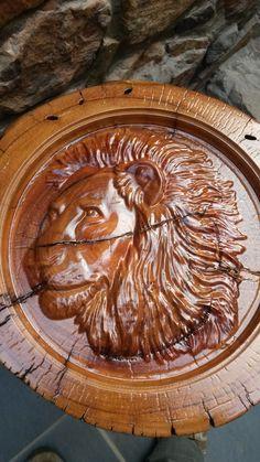 Lion Head Log Furniture, Handmade Furniture, Reclaimed Timber, Wood Carving, Lion, Rustic, Steel, Craftsman Furniture, Leo