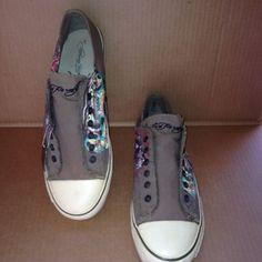 Ed Hardy MEN'S BROWN Slip On Sneakers Rose Panther Snake SZ 11M /METAL TAG VGUC #EdHardy #SlipOnCanvasSneakers