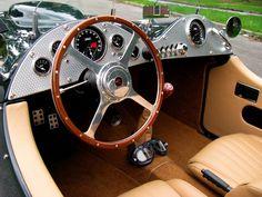 Allard J2X MkII Interior. Inspiring interior would translate well into garage or office interior.