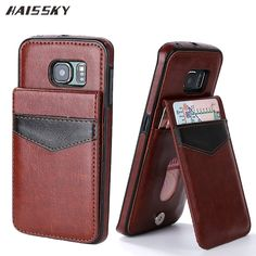 8bfbeb4ee15 HAISSKY Leather Case For Samsung Galaxy S8 S9 Plus S6 S7 Edge j5 J7 Prime  Case