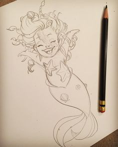 """hollieballardartist: """"When we were young we were free to be ourselves, for me to be me. Cartoon Drawings, Cartoon Art, Cute Drawings, Drawing Sketches, Sketching, Mermaid Artwork, Mermaid Drawings, Arte Disney, Disney Art"""