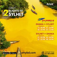 Visit The Beautiful Land Of Sylhet. Now Enjoy The Privilege Of Daily Two Times Dhaka <> Sylhet Flights on US-Bangla Airlines. ✈️ Book your air tickets in a hassle-free way today with Amy!  Amy - The Country's Most Easy, Trusted & Dependable Online Travel Agent. ✈️  #AMY #OnlineTravelAgent #BookAirTicketOnline #AirTicket #BestFare #CheapFare #OneStopSolution #FlightTicket #Travel #Tour #OnlineTravelAgentInBangladesh #USBangla #Sylhet Cheap Flight Deals, Cheap Flight Tickets, Air Ticket Booking, Air Tickets, International Flight Tickets, Online Travel Agent, Cheap Flights, Online Tickets, Amy