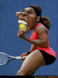 Caricatura de Serena Williams.