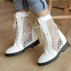 Hollow sandals flat boots