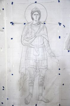 Art Icon, Orthodox Icons, Mural Painting, Byzantine, Pencil Drawings, Stencils, Restoration, Creations, Cartoons