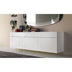 Wow your guests with the breathtaking Tropez Sideboard by Cattelan Italia. With 3 doors and drawers, the sideboard is the most beautiful storage furniture piece one can imagine.