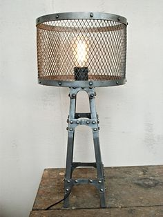Industrial rustic----- lamp.