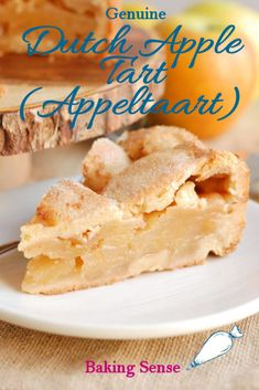 Dutch Apple Tart is made with a brown sugar cookie crust and a simple apple filling. This recipe is from my Dutch mother-in-law. Dutch Recipes, Irish Recipes, Russian Recipes, Sweet Recipes, Baking Recipes, Baking Ideas, Bavarian Recipes, Dutch Desserts, Just Desserts