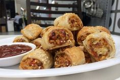 Vegetarian sausage rolls recipe. Great for parties, after school snacks or warm winter lunches