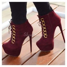 Shoespie Suede Lace-up Ankle Boots (260 BRL) ❤ liked on Polyvore featuring shoes, boots, ankle booties, suede lace up ankle booties, laced ankle boots, suede ankle boots, suede lace up bootie and lace up ankle booties