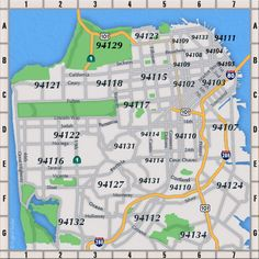 San Francisco Zip Code Map
