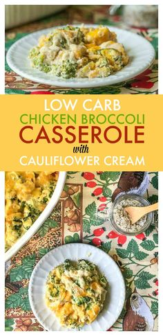 This low carb chicken broccoli casserole uses a cauliflower cream sauce for a healthier dish. This comforting casserole is tasty and easy to make. Only net carbs per serving. Low Carb Chicken And Broccoli, Chicken Broccoli Casserole, Low Carb Chicken Recipes, Cauliflower Recipes, Keto Chicken, Turkey Recipes, Paleo Keto Recipes, Ketogenic Recipes, Diet Recipes