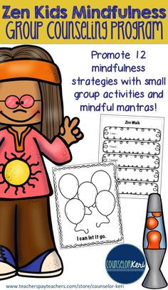 Mindfulness group counseling program to build personal and social awareness… - Cumming Wellness Center - Cumming, GA - Group Counseling, Counseling Activities, School Counseling, Therapy Activities, Play Therapy, Therapy Ideas, Emotions Activities, Wellness Activities, Therapy Tools
