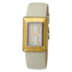 ELLETIME Women's EL20085S01C Steel and Ion-plating Gold Women's White Dial and Gold Indexes Dial White Strap Watch ELLETIME. $66.12. Case diameter: 27.70mm. High quality dial, Japan analog-quartz movement. Two-tone steel casual watch case. Imported from China. Water resistant to 99 feet (30 M)