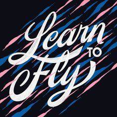 Foo Fighters Learn to Fly lettering by Vini Vieira