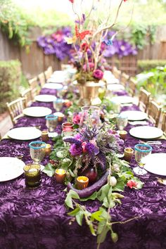 purple bridal shower ideas Midsummer Nights dream Bridal Shower www.poshshoppeflorist.com Posh Shoppe Florist purple gold garden shower
