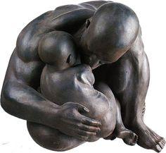 black - father and son - figurative sculpture - Ramón Conde Bronze Sculpture, Sculpture Art, Garden Sculpture, Ramones, Family Images, Father And Son, Vintage Posters, Statues, Sculpting