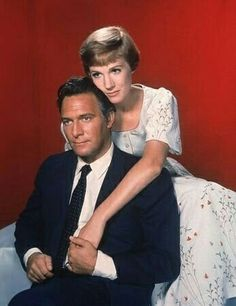 """Christopher Plummer & Julie Andrews starred in """"The Sound of Music,"""" one of my all-time favorite movies . Film Musical, Film Music Books, Music Tv, Hollywood Stars, Classic Hollywood, Old Hollywood, Old Movies, Great Movies, Cinema Tv"""