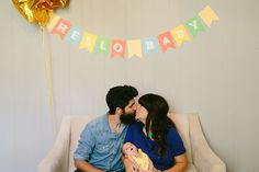 Pia's bright, modern sip and see party | Apryl Ann Photography | 100 Layer Cakelet