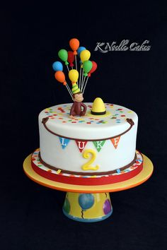 Curious George theme cake by K Noelle Cakes