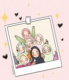 slamic anime ve tesett r Friend Cartoon, Girl Cartoon, Cartoon Art, Cartoon Images, Hijab Drawing, Islamic Cartoon, Anime Muslim, Hijab Cartoon, Islamic Girl