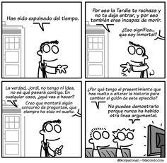 """""""Expulsado del tiempo"""" por Albert """"Koopa"""" González. (Otro comic sobre el Doctor y Jordi Hurtado).  'In Hurtado we trust' era el lema original de los USA. De nuevo, crononautas."""