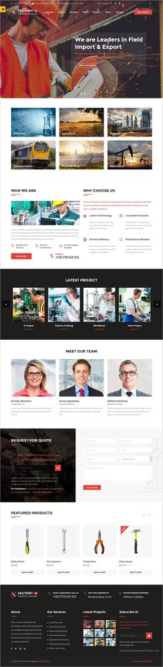 Factory Plus is the best responsive 9in1 #WordPress Theme specifically made for #webdesign some sectors like #industry, Factories, Construction, Engineering, Machinery Business, Commodity Business, Power, Rail Business, Airplane, Ship Business, Oil & Gas Business, Petroleum websites download now➩ https://themeforest.net/item/avonmore-premium-creative-multipurpose-wordpress-theme/17364678?ref=Datasata