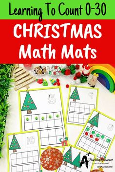 Looking for Christmas math printables for kids? then check these gorgeous math centers for learning to identify numbers and count 0-30. There's so many variations including with and without ten frames, digits and numbers as words. Your kids will love them this holiday season! Christmas Math, Christmas Activities, Christmas Printables, Classroom Activities, Teaching Numbers, Numbers Kindergarten, Fine Motor Activities For Kids, Teacher Freebies, Fun Math Games