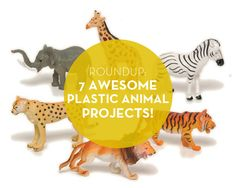 Check out our roundup of 7 awesome DIY plastic animal projects! Plastic Animal Crafts, Plastic Animals, Cool Diy, Animal Projects, Craft Projects, Diy For Kids, Crafts For Kids, Do It Yourself Baby, Crafty Craft
